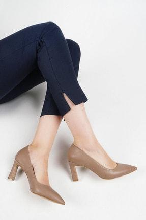 Marjin Kadın Vizon Stiletto Topuklu Ayakkabı Akuna 1
