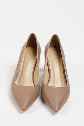 Marjin Kadın Vizon Stiletto Topuklu Ayakkabı Akuna 4