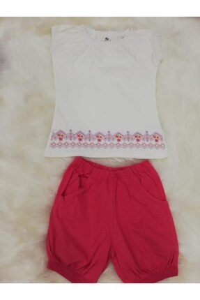Wonder Kids Kız Çocuk Beyaz Pembe Wonder Kids Pijama Takımı 130613 0