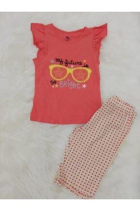 Wonder Kids Kız Çocuk Pembe Bermuda Yazlık Pijama Takımı 0