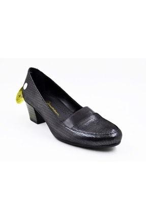 Mammamia D19ka-3460 Çelik Deri Kalın Topuk Kadın Ayakkabı 0
