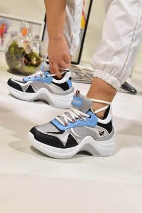 Matilla Kadın Gümüş Turkuaz Spor Ayakkabı 2