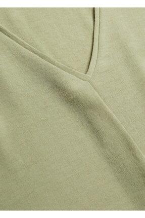 Mango Kadın Yeşil Kısa Kollu Bluz 4