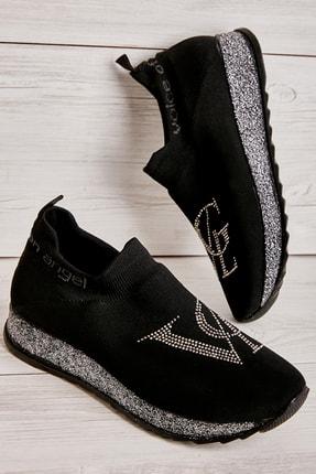 Bambi Siyah Gri Kadın Sneaker K01816050582 0