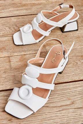 Bambi Beyaz Kadın Klasik Topuklu Ayakkabı K05525150009 0