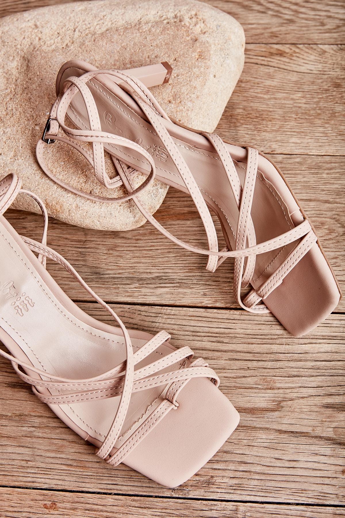 Nude Nubuk Kadın Klasik Topuklu Ayakkabı K05503530371