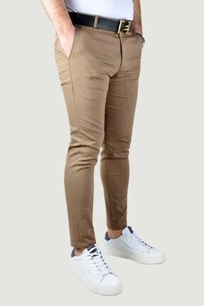 Terapi Men Erkek Keten Pantolon 20k-2200341 Kahverengi 1