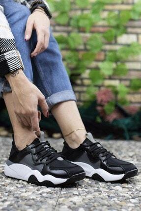 Riccon Kadın Siyah Sneaker 0012103 1