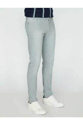 Koton Erkek Yeşil Dar Kesim Pantolon 2
