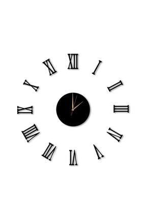 Dekolia Büyük Ahşap Romen Rakamlı  Göbek Duvar Saati Art1130 1