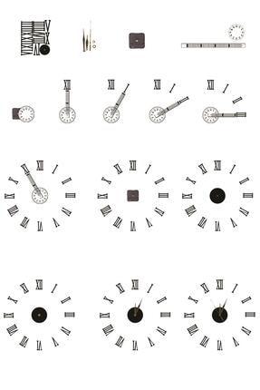 Dekolia Büyük Ahşap Romen Rakamlı  Göbek Duvar Saati Art1130 4