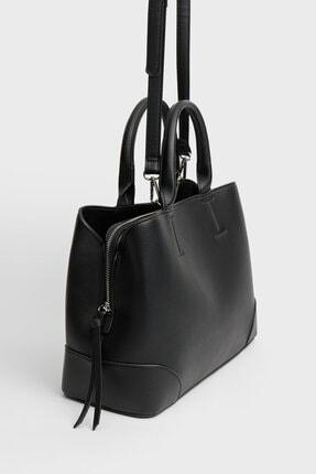 Stradivarius Kadın Siyah Tote Çanta 2