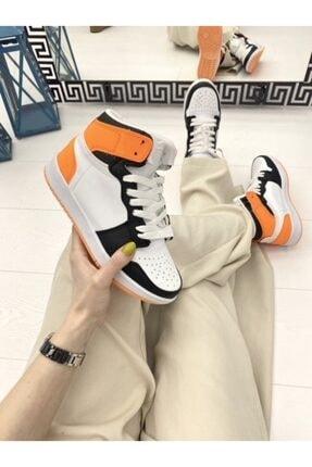 ELSESHOES Kadın Beyaz Turuncu Spor Ayakkabı 1