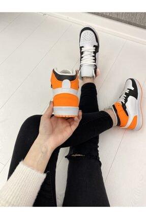 ELSESHOES Kadın Beyaz Turuncu Spor Ayakkabı 2