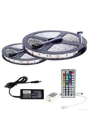 LED LAMP Şerit Led Rgb 10 Metre 44 Tuşlu Kumandalı 20 Renk Iç Mekan Tak Çalıştır Double Pcb 0