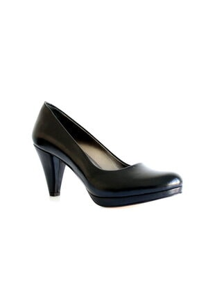 Beta Shoes Kadın Hakiki Deri Topuklu Ayakkabı Siyah 0
