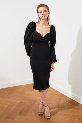 TRENDYOLMİLLA Siyah Kol Detaylı Elbise TPRSS20EL1010 0