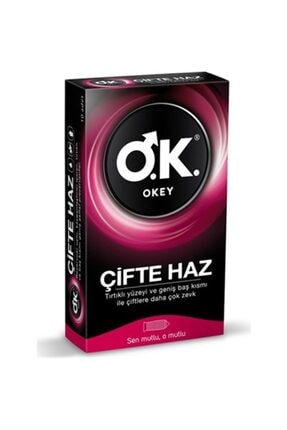 Okey Çifte Haz Prezervatif 10'lu 0