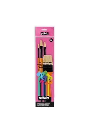 Pebeo 4lü Yağlı Boya Fırça Seti - Set 14 0
