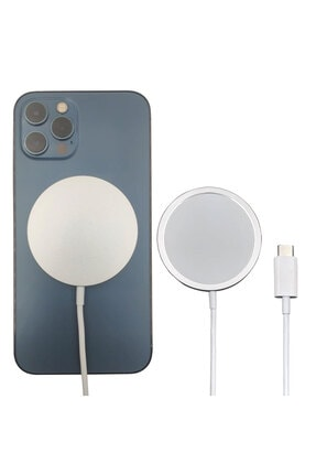 BSD GİFTED Masa Üstü Mıknatıslı Metal Telefon Tutucu Stand + Iphone 12 Kablosuz Şarj Aleti 4