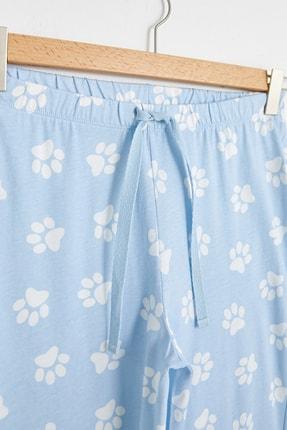 LC Waikiki Kadın Açık Mavi Baskılı Pijama Altı 2