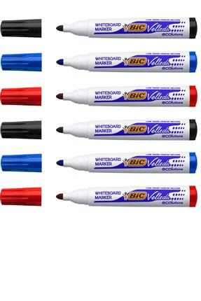 Bic Yuvarlak Uç Beyaz Tahta Kalemi 6'lı Set 0