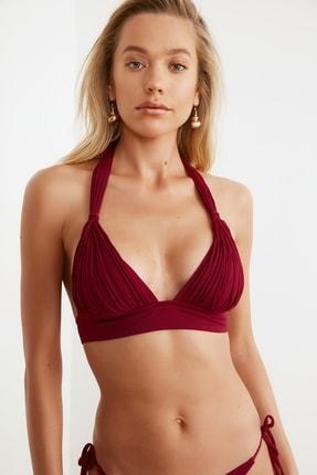TRENDYOLMİLLA Mürdüm Drapeli Bikini Üstü TBESS21BU0186 0