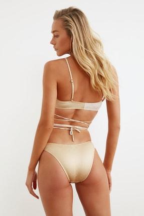 TRENDYOLMİLLA Bronz Renk Bloklu Bikini Altı TBESS21BA0255 3