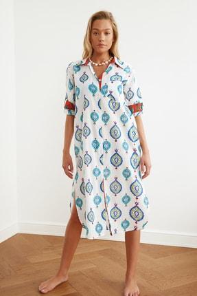 TRENDYOLMİLLA Etnik Desenli Vual Kimono&Kaftan TBESS21KM0010 1
