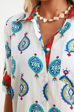 TRENDYOLMİLLA Etnik Desenli Vual Kimono&Kaftan TBESS21KM0010 2