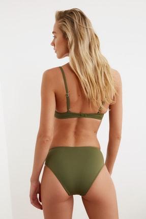 TRENDYOLMİLLA Haki Drapeli Bikini Altı TBESS20BA0217 3