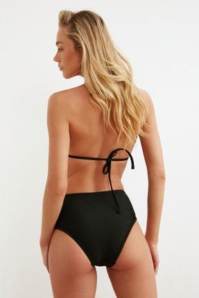 TRENDYOLMİLLA Siyah Payetli Üçgen Bikini Üstü TBESS20BU0184 4