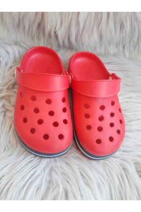 Akınalbella Unisex Çocuk Kırmızı  Crocs Terlik 1