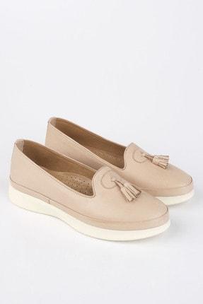 Marjin Kadın Bej Hakiki Deri Comfort Ayakkabı Sore 0