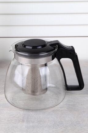 Perotti - Sefa Perotti Süzgeçli Cam Demlik 900 ml Kahve ve Bitki Çay Tea Pot Çaydanlık 0