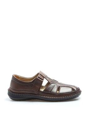 Fast Step Erkek Hakiki Deri Taba Klasik Sandalet 662ma119b 1