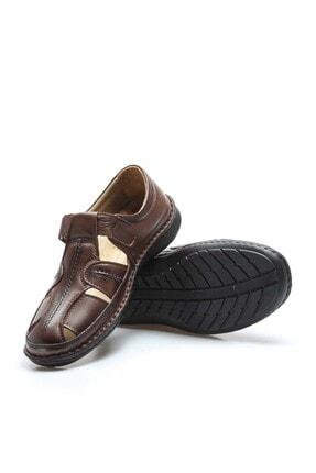 Fast Step Erkek Hakiki Deri Taba Klasik Sandalet 662ma119b 4