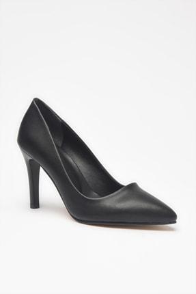 Yaya by Hotiç Suni Deri Siyah Kadın Klasik Topuklu Ayakkabı 01AYY209070A100 2