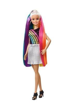 Barbie Gökkuşağı Renkli Saçlar Bebeği FXN96 T000FXN96 1
