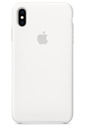 Ebotek Iphone Xs Max Kılıf Silikon Içi Kadife Lansman Beyaz 0
