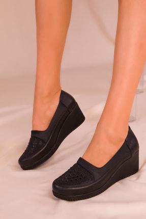 Soho Exclusive Siyah Kadın Dolgu Topuklu Ayakkabı 15979 0