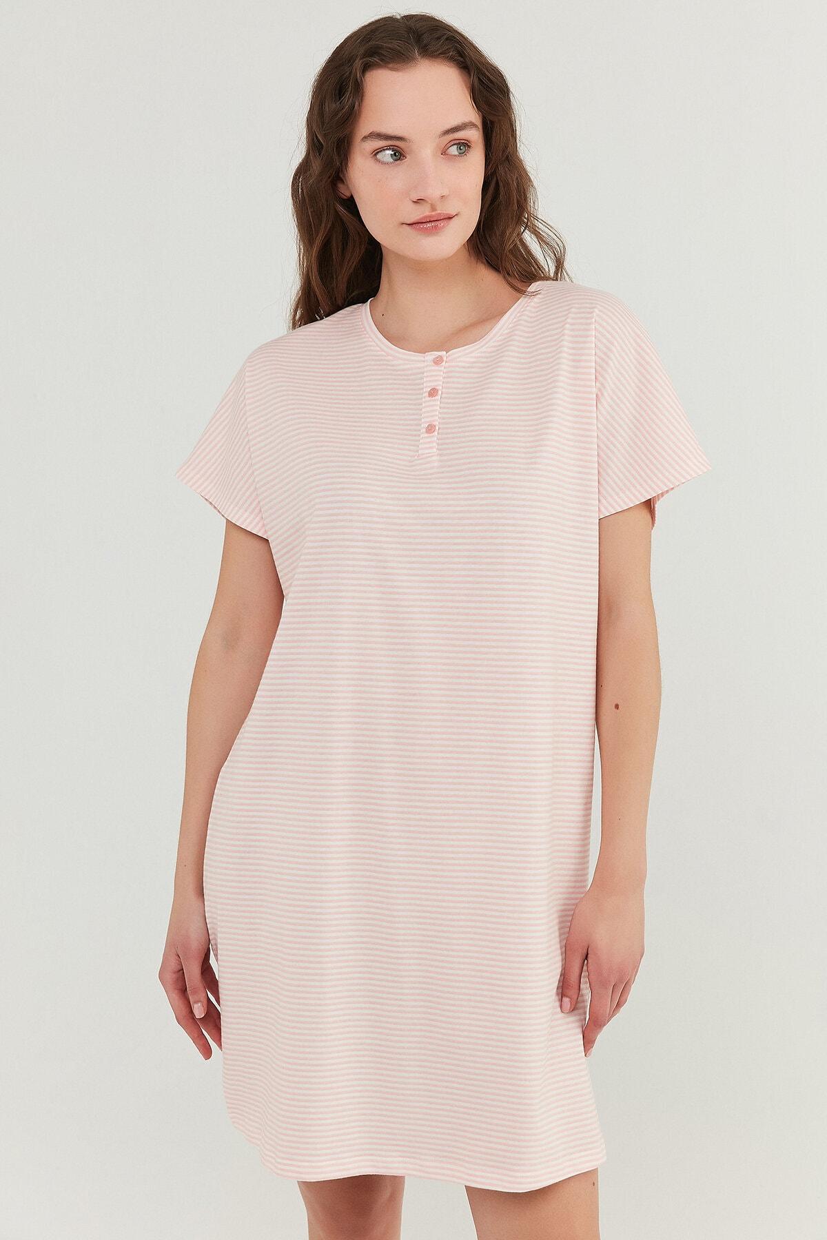 Penti Somon Pretty Striped Elbise 1