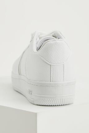 Defacto Kadın Beyaz Bağcıklı Sneaker Ayakkabı 2