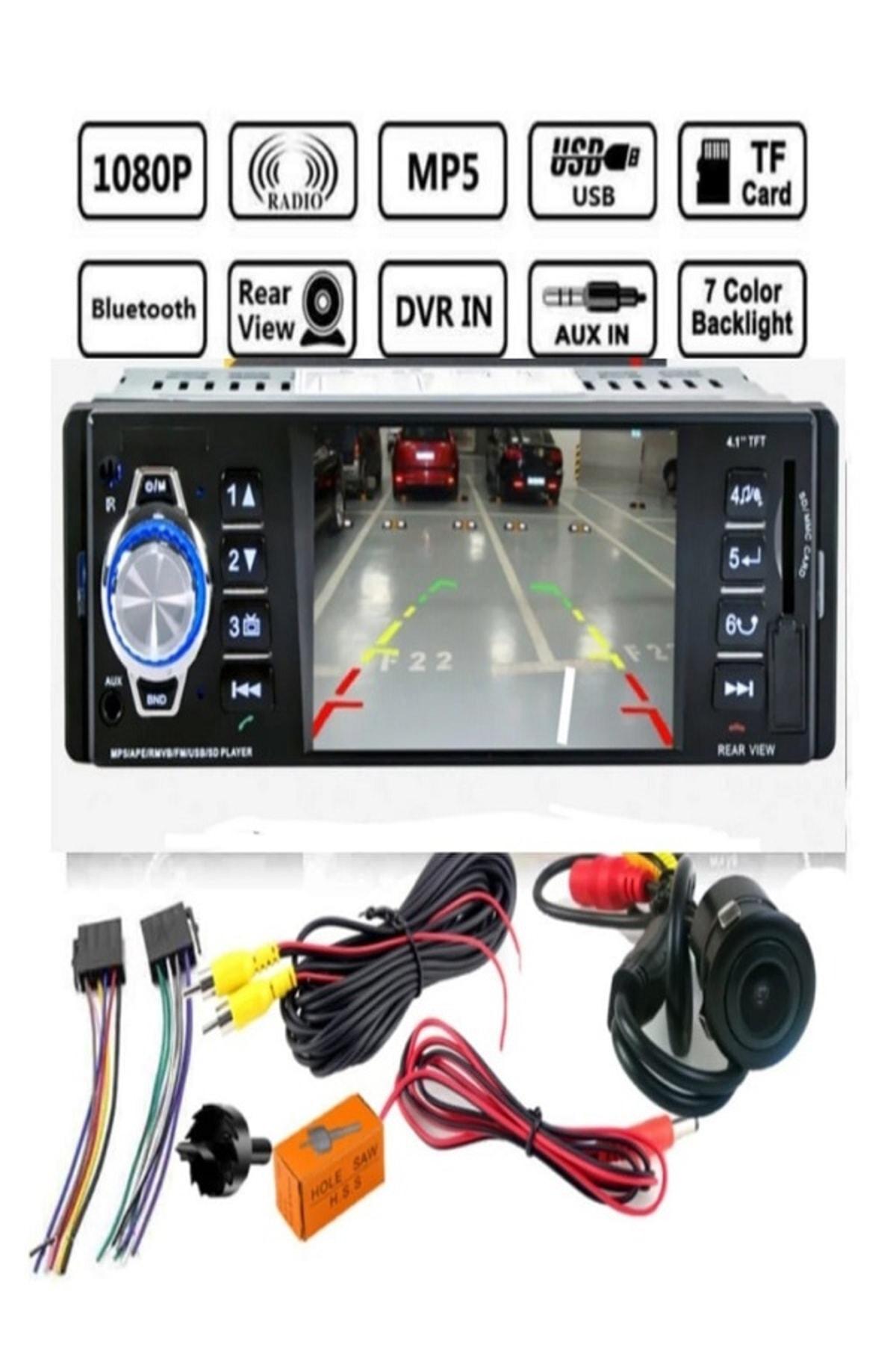 Ds-422 Araba Oto Teyp+geri Park Kamera-bluetooth-mp5-mp3-usb