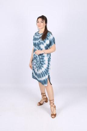 Kısa Kol Batik Elbise Modelleri V4 HEDI0546264