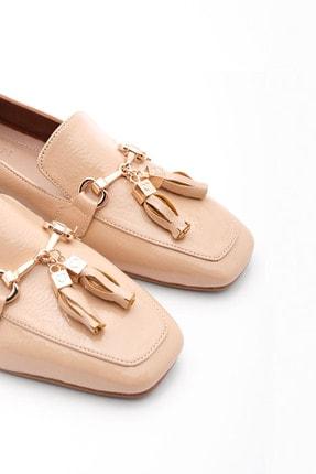 Marjin Kadın Bej Rugan Loafer Ayakkabı Desar 0