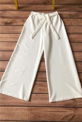 Allmıss Kadın Belden Lastikli Ve Kuşaklı Bol Pantolon 0