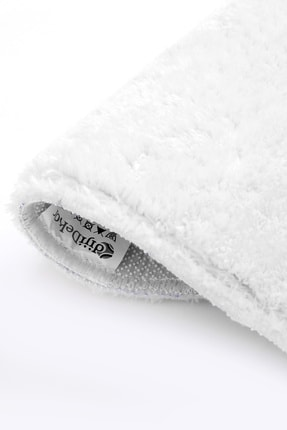 Dijidekor Beyaz Post Dokuma Halı Peluş Yumuşacık Kaymaz Antibakteriyel 3