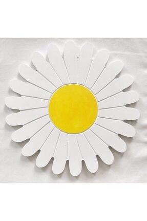 Sister Home Design Beyaz Papatya Görünümünde Yuvarlak Ahşap Supla - Papatya Supla 2