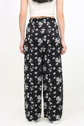 DOĞAN ATEŞ Çok Renkli Çiçek Desenli Beli Lastikli Bol Salaş Pantolon 2